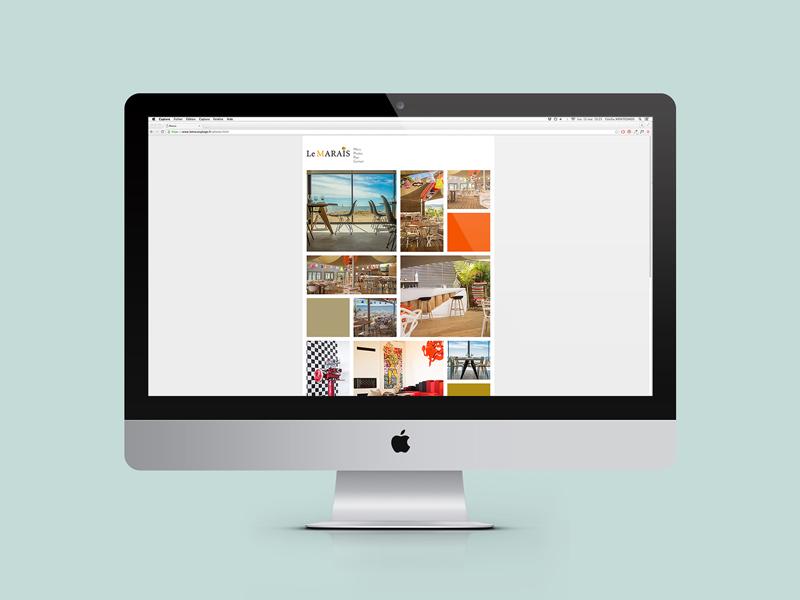 Creation website restaurant Le Marais Plage Hyeres