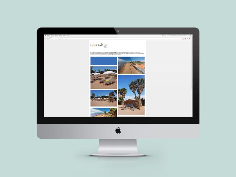 Creation website Le Marais Plage Hyeres