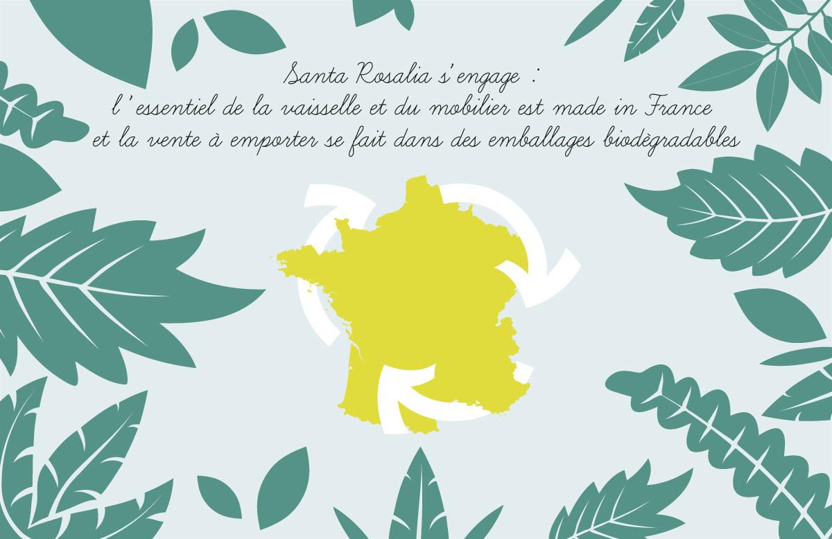 Création illustration restaurant Santa Rosalia