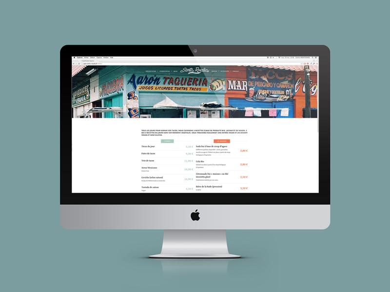 Création website Santa Rosalia Toulon