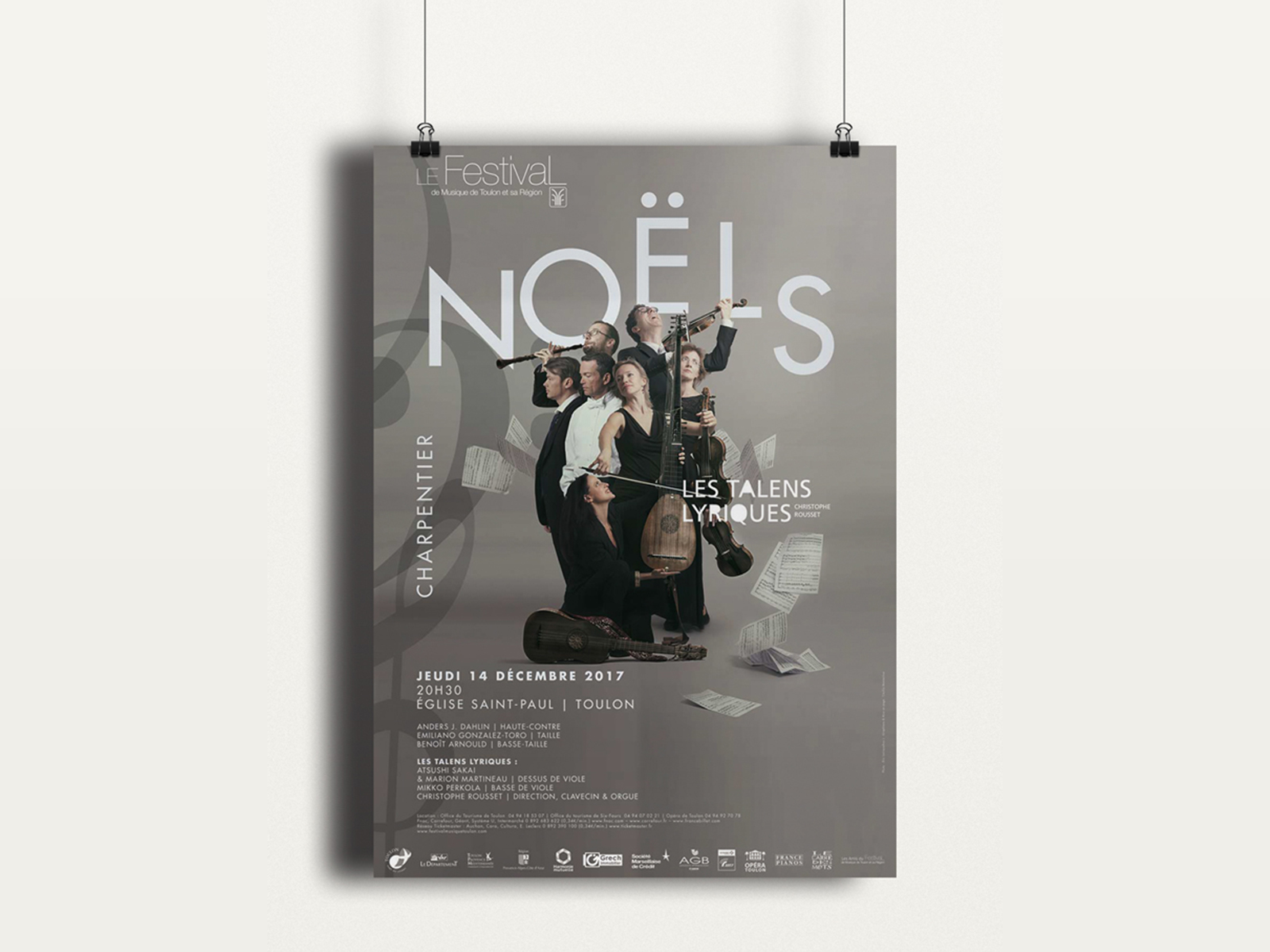 Creation visuelle affiche Noel toulon