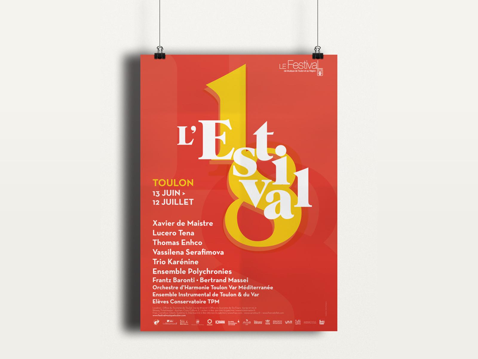 Creation affiche festival de musique de toulon et sa région