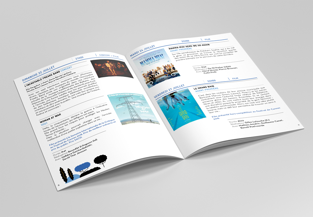Mise en page brochure festival Cotignac