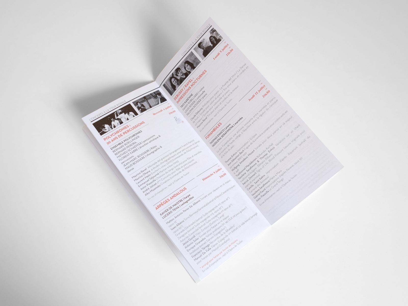 Création brochure festival Toulon